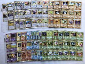230x Pokemon Japanese Old Back Card Lot Binder WOTC Base Jungle Fossil NO DUPES
