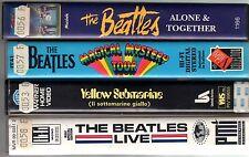 BEATLES - Raccolta 4 VHS diverse originali Grandi Titoli Ital & Import
