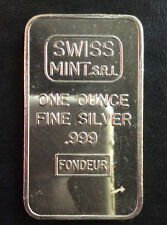 Swiss Mint Commercial Silver Art Bar A2575