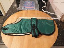 Lucky Pet 20 inch Dog Coat Green Nylon Showerproof Sherpa Fleece Lining New