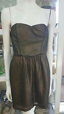 T by Bettina Liano cocktail dress.Sz12.Boned bodice.Hi sheen.VGC
