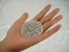 Gorgeous Rhinestone Wedding Applique Diamante Bridal Applique Trim Beaded Motif