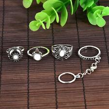 12pcs Boho Vintage Turquoise Elephant Animal Ring Set Midi Finger Knuckle Rings