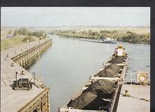 British Waterways Postcard -  Push-Tow Craft Delivering Coal, Ferrybridge RT2330