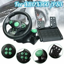 PC Gaming Vibration Racing Steering Wheel Pedals Controller For XBOX 360 PS3 PS2