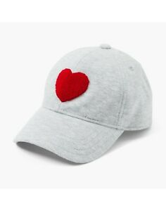 NWT Gymboree Gray with Red Heart Baseball Cap Baby 12-24 mos