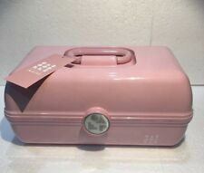 NEW CABOODLES ON THE GO GIRL RETRO MAKEUP TRAVEL CASE ORGANIZER RETRO PINK
