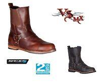 Spada Kensington Motorcycle Boots Brown Black Leather Motorbike Mens All Sizes