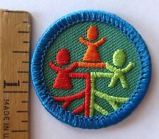 Girl Scout Junior 1980-2001 MY HERITAGE BADGE Family Tree Ancestor History Patch