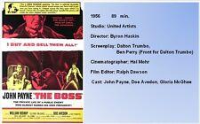 FILM NOIR X41: THE BOSS (1956) Byron Haskin, John Payne, William Bishop