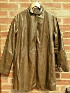 Variance Women's Green 100% Cuir Soft Leather Jacket Coat Size M