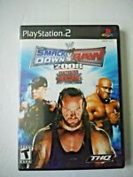 WWE Smackdown Vs. Raw 2008 Featuring ECW (Sony Playstation 2, 2007)  CASE ONLY