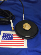 MAGNET BASE NMO MOUNT SMA MALE MAGNETIC  UHF VHF ANTENNA BASE NMO MADE IN USA
