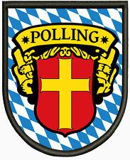 Wappen von Polling Aufnäher ,Patch Pin, Aufbügler