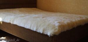 Lammfell Bettauflage 200x90 cm Betteinlage Unterbett med. Gerbung Schaffell