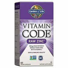 Garden of Life Vitamin Code Raw Zinc, 30mg Whole Food Zinc Supplement + Vitamin
