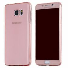 NEW Full Cover Shockproof Screen Protector Clear Gel TPU Case For Samsung Galaxy