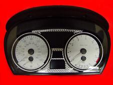 Silver Gauge Face Overlay For 2006-2007 BMW E90 4 Door / E91 5 Door 3 Series