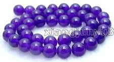 "SALE High quality Round 10mm Purple jade gemstone beads strands 15""-los373"
