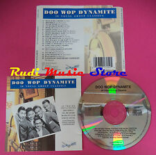 CD Doo Wop Dynamite 20 Vocal Group Classics Compilation no mc vhs dvd(C37)