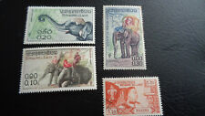 Laos Stamps, 1 Satz Elefanten postfrisch + 1 Marke v. 1959, gestempelt