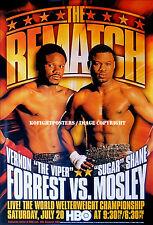 SUGAR SHANE MOSLEY vs. VERNON FORREST  2 / Original Full-Size HBO Boxing Poster