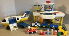 Vintage 1980 Fisher Price Little People Play Family Jetport Airport +Accessories