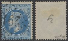 """France 1868 - Yv # 29Bc Error Variety """"Aux Abeilles"""" Signed - Used Stamp EB64"""