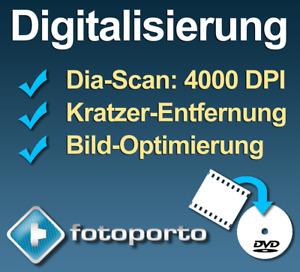 100 Dias digitalisieren scannen (4000 dpi, ICE, Bildoptimierung) Diascan auf DVD