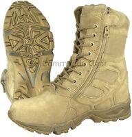"8"" Desert Tan ""Forced Entry"" Deployment Boot - Military Side Zipper Work Boot"