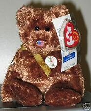 Ty Beanie Baby ~ CHAMPION (USA) the Bear Fifa World Cup Soccer ~ MINT ~ RETIRED