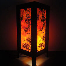 Nice Asian Oriental Dawning Sunset Japanese Art Bedside Desk Or Table Lamp Shades