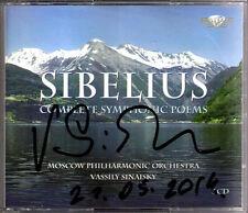 Vassily sinaisky firmato Sibelius Finlandia Lemminkainen oceanides Tapiola 3cd
