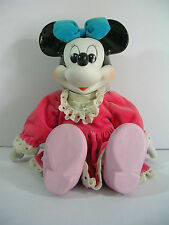 "Vintage Disney Minnie Mouse Porcelain Musical Doll ""When you wish upon a star"""