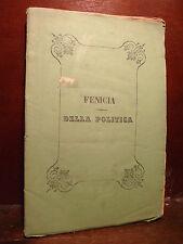 Fenicia Salvatore : Della POLITICA - NAPOLI 1865 Dedica al Cardinale Quaglia A.