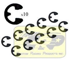 2mm E-RINGS  (10pcs) Tamiya Boomerang SuperShot Circlip RC  Team CRP 1633