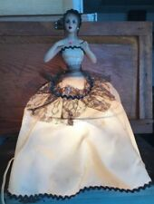 Vintage Chalk Ware Lamp Doll Spanish Lady WORKS