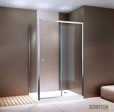 Duschkabine Eckdusche Dusche mit Schiebetür EX504BW » Klarglas - 80x120x195cm