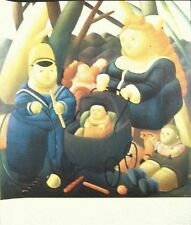 Fernando Botero Lithograph Rich Children  Full size Poster 30 x 35  1980