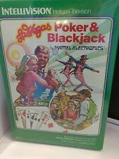 Las Vegas Poker and Blackjack Video Game Mattel Intellivision Sealed Complete