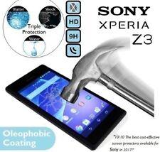 100% véritable verre trempé protecteur d'écran 9H (D6603 D6653) pour Sony Xperia Z3