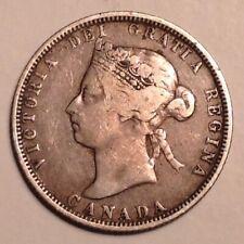 1883 H Canada  Victoria 25 Cents