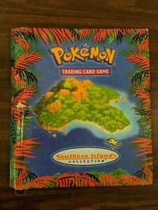 Pokemon Card Southern Island Tropical and Rainbow Binder
