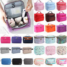 Women Travel Make Up Cosmetic Bags Jewellery Vanity Case Handle Storage Bags New