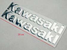 """3D 8"""" Plata Tanque Carenado Emblema Cromado Calcomanía Adhesivo para Kawasaki Motor Carrera"""
