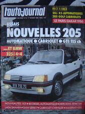 revue 1986 PEUGEOT 205 CTi + GTi / BMW 325i 4X4 / VW GOLF GLi / AUTO-JOURNAL