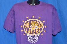NEW LOS ANGELES LAKERS HOOP PURPLE GOLD BASKETBALL MITCHELL & NESS t-shirt XL