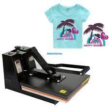 38x38cm Black Heat Press Machine Sublimation Digital Clamshell T-shirt Printing