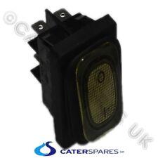 Amarillo Neón del Eje de Balancín Interruptor On/off C/W fuelle de sello 30X22 4 terminal tipo pala 230 V