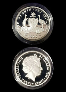 1910 99.9% Proof Silver FLORIN from 1998 Masterpieces Silver Set - 13.36g 20c